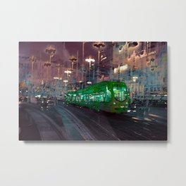 The Essence of Croatia - Zagreb Night Tram Metal Print