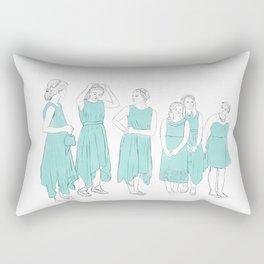 Bridesmaids (aqua) Rectangular Pillow