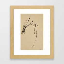 Singing Orchid Framed Art Print