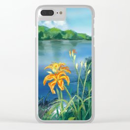 Lillie's on the River Clear iPhone Case