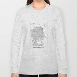 San Francisco White Map Long Sleeve T-shirt