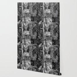 City Life (Black and White) Wallpaper