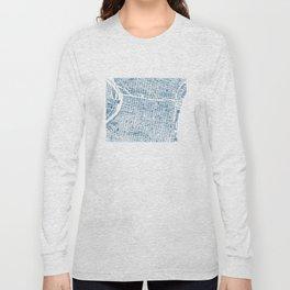 Philadelphia City Map Long Sleeve T-shirt