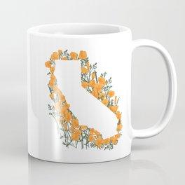 California State Map - Poppies Coffee Mug