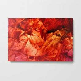 Red Ice Cave Metal Print