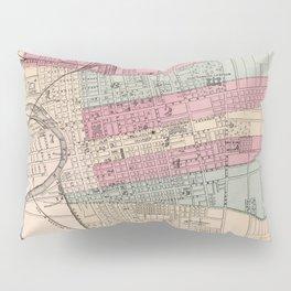 Vintage Map of Columbus Ohio (1868) Pillow Sham
