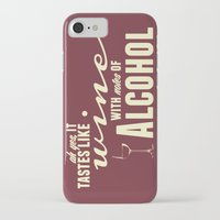 alcohol iPhone & iPod Cases featuring NOTES OF ALCOHOL by Sandhill