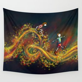 Space Stroll Wall Tapestry
