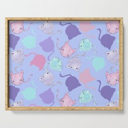 Candy Cotton Cats - Cat Pattern Design Serving Tray