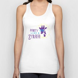 Party Like a Zyrafa! Unisex Tank Top