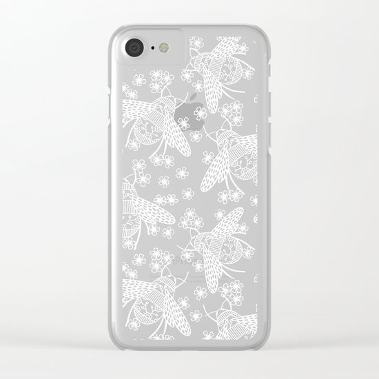 Papercut Bees Clear iPhone Case