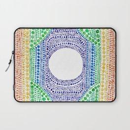Rainbow Dot Mandala Laptop Sleeve