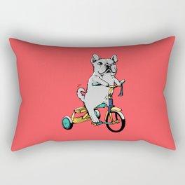 Frenchie Ride Rectangular Pillow