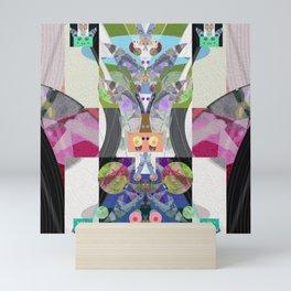 Machine Elves S'elf Portrait No. 2 Contemporary Psychedelic Abstract Mini Art Print