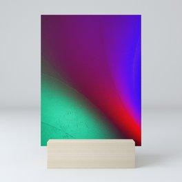 Rainbow colour waves Mini Art Print