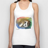boxer Tank Tops featuring Boxer by Michelle Behar