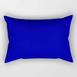 Simple Solid Color Earth Blue All Over Print Rectangular Pillow