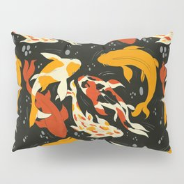 Koi in Black Water Pillow Sham