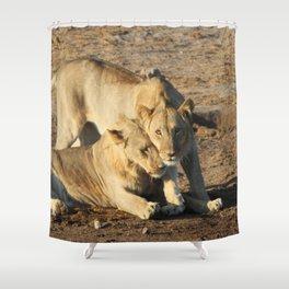 Lion Love Shower Curtain