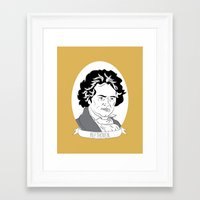 beethoven Framed Art Prints featuring Beethoven by Julie Gough