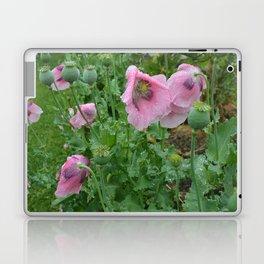 Poppies in rain Laptop & iPad Skin