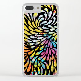 Boho Water Lillies meet the Ocean Clear iPhone Case