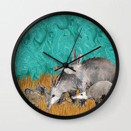 3 As in Aardvark Wall Clock