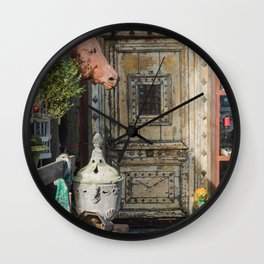 Horse head and antiques Wall Clock
