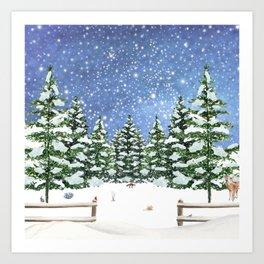 A Winter's Night Art Print