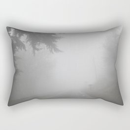 Foggy road Rectangular Pillow