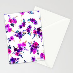 Ava Floral Purple Stationery Cards
