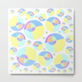 Bubble yellow & blue 08 Metal Print