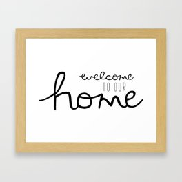 Welcome Your Guest Framed Art Print