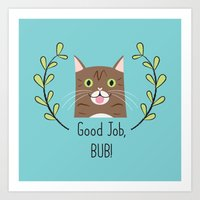 lil bub Art Prints featuring Lil Bub by Madeline Audrey