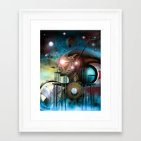 titan Framed Art Prints featuring Titan by Pantalla 64