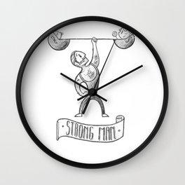 Strong Dad Wall Clock