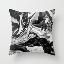 Black and White Marble  Throw Pillow