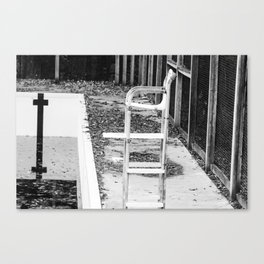 Shut down for the winter Canvas Print