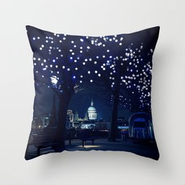 London nights Throw Pillow