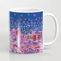 austin Mugs featuring austin texas city skyline by Bekim ART