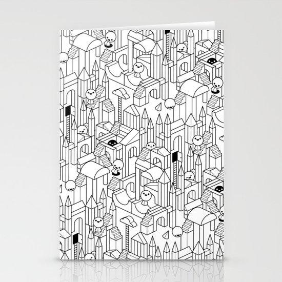 Little Escher's Building Blocks Stationery Cards