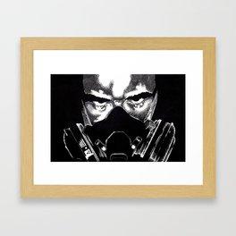 Respirator Guy Framed Art Print