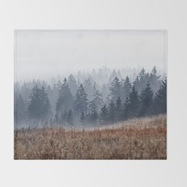 Lost In Fog Throw Blanket