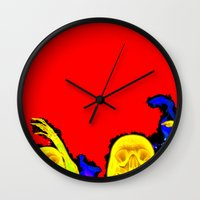 hell Wall Clocks featuring Hell by Alec Goss