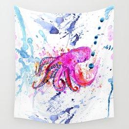 Purple Octopus Wall Tapestry