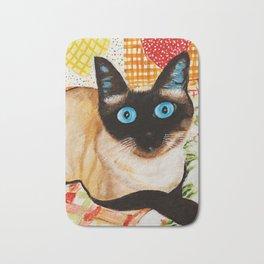 Misha the beautiful Siamese Cat Bath Mat
