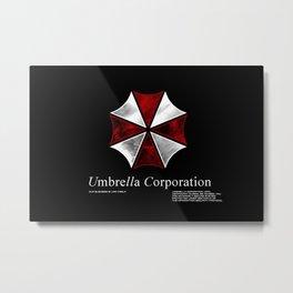 Resident Evil Umbrella Corporation Metal Print