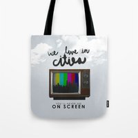 lorde Tote Bags featuring Cities you'll never see on screen - Lorde by Jesus Acosta