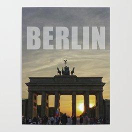 BERLIN, Sunset at the Brandenburg Gate Poster
