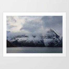 Vintage Mountain 15 Art Print
